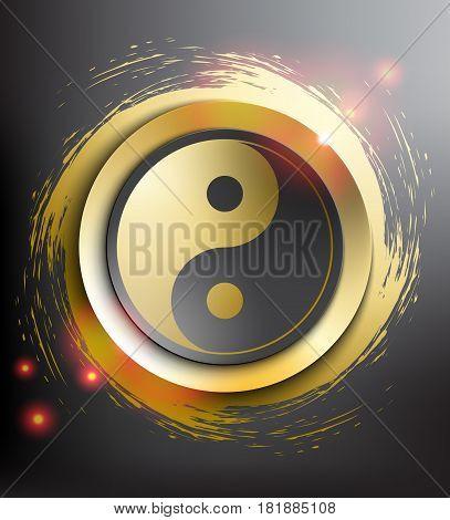 Yin Yang Symbol. Sacred geometry. Vector illustration. Eps10.