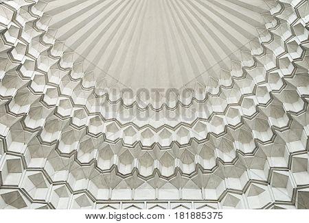 Traditional stalactite decoration of a mosque ceiling, Samarkand, Uzbekistan