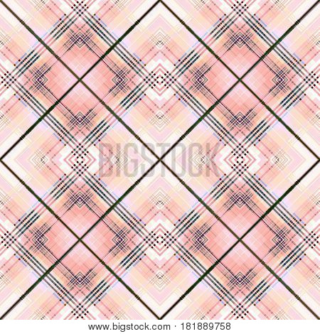 Soft coral pastel checkered seamless pattern repeat design