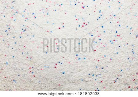 Soap Powder white with red and blue Detergent background