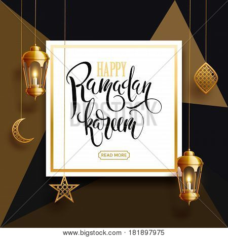 vector illustration of ramadan kareem background, lantern, holiday, vector illustration eps 10 gold colors
