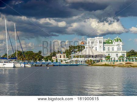 Waterside scenery around Cienfuegos in Cuba a island in the Caribbean Sea