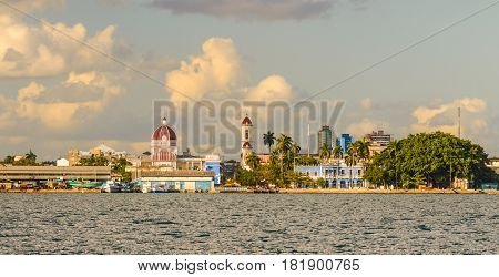Waterside scenery around Cienfuegos in Cuba a island in the Caribbean Sea