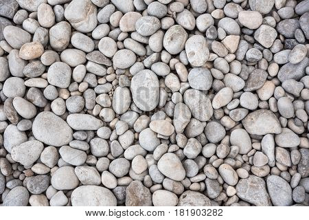 Background ot texture made of gray pebbles