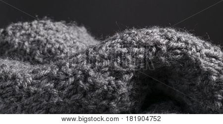 Knitted Wool Fabric Background In Details.