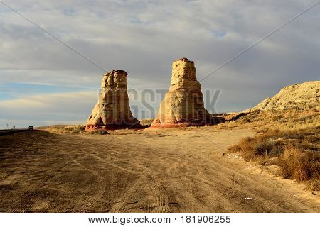 Hoodoo's near Tuba City Arizona Navajo Nation