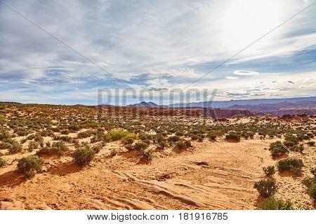Incredibly beautiful landscape in National Park, Arizona, USA