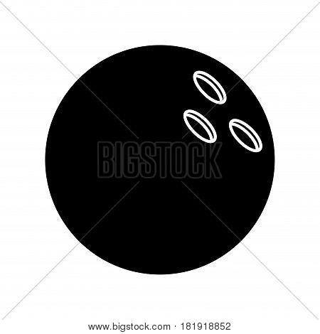 bowling ball sport pictogram vector illustration eps 10