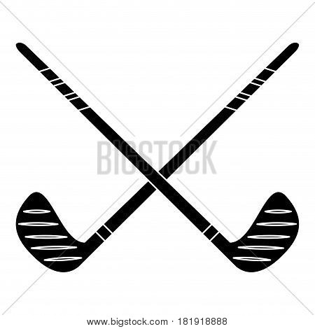 crossed stick hockey sport pictogram vector illustration ep 10