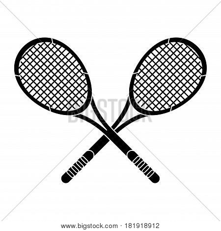 crossed racket sport image pictogram vector illustration ep 10