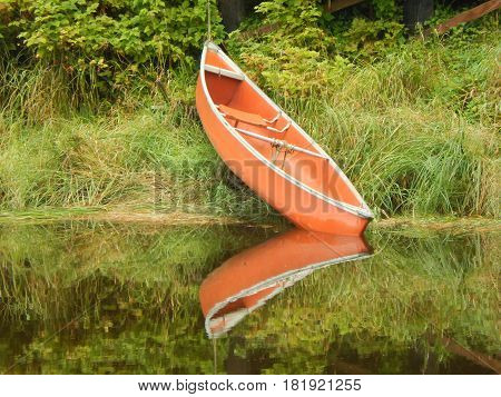 Canoe near the  water in Petersburg, Alaska