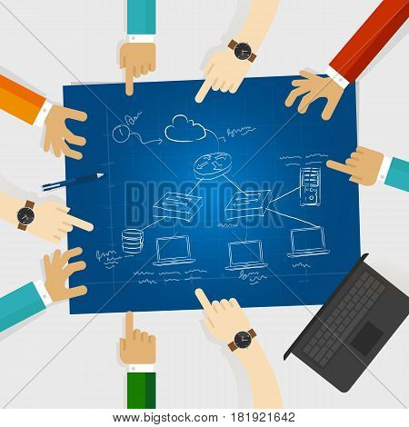 LAN local area network design architecture computer cable connection client server icon router vector