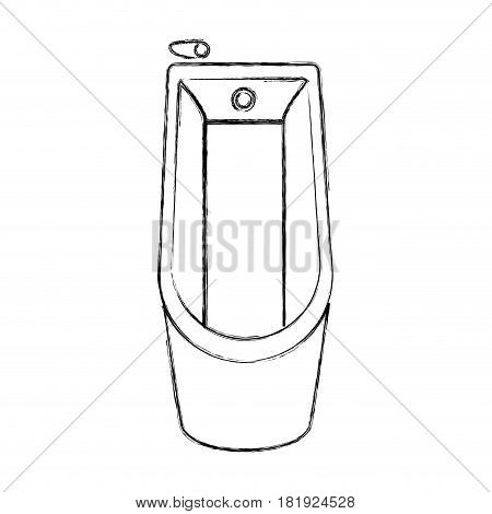 sketch silhouette of bathtub in top view vector illustration