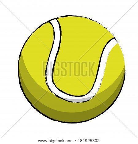 tennis sport ball image vector illustration eps 10