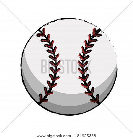 baseball sport ball image vector illustration eps 10