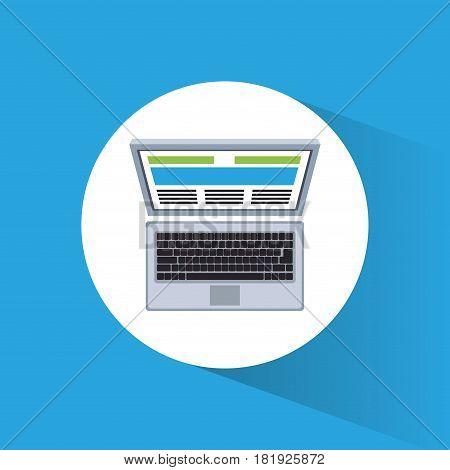 laptop marketing information web site vector illustration eps 10