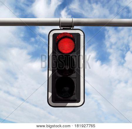 Traffic Light - Red Against Sky