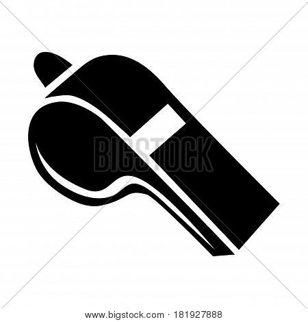 black silhouette closeup whistle element sport vector illustration