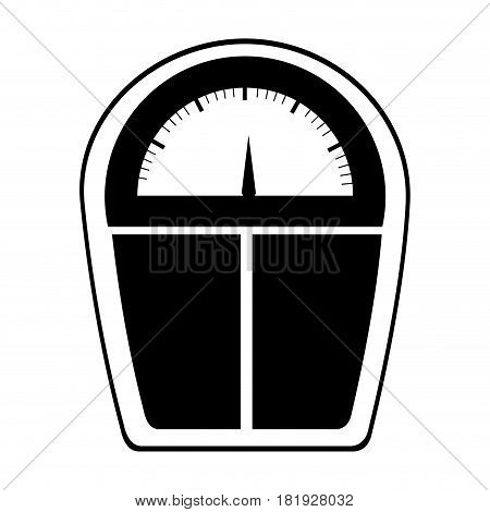 black silhouette scales for weight control vector illustration