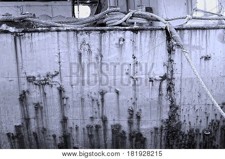 Grimy Old Ship Hull