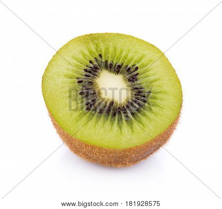 CloseUp Kiwi fruit isolated on white background