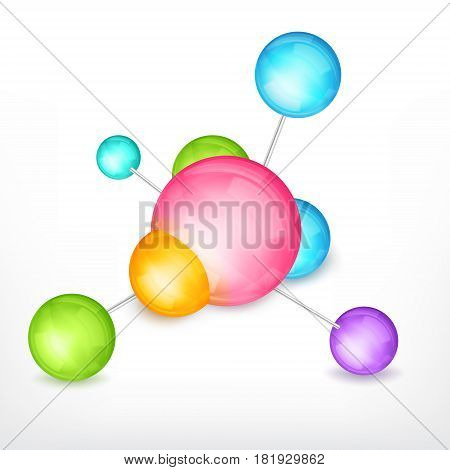 Abstract molecule design. Vector medical and science icon. EPS10