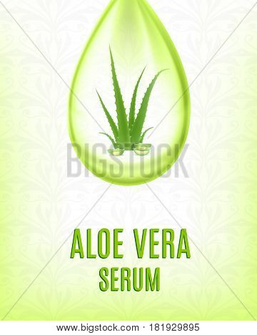 Aloe vera serum. Cosmetic and healthcare background. EPS10 vector