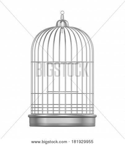 Birdcage isolated on white background. 3D render