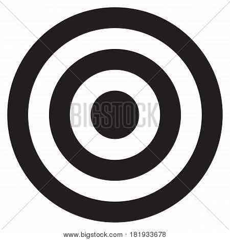 Black target Sports Target Aspirations Bull's-Eye Symbol