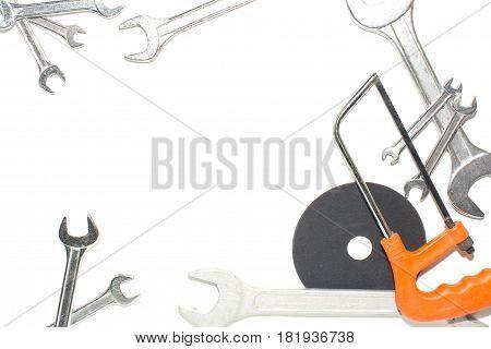 Brilliant keys on a white background. Foto