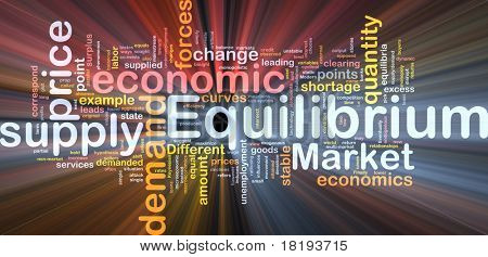 Background concept wordcloud illustration of equilibrium glowing light