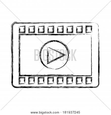 play button recorder icon vector illustration design