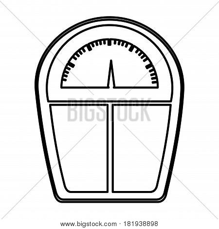 monochrome contour of scales for weight control vector illustration