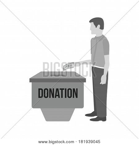 Donation, funding, help icon vector image. Can also be used for city lifestyle. Suitable for web apps, mobile apps and print media.
