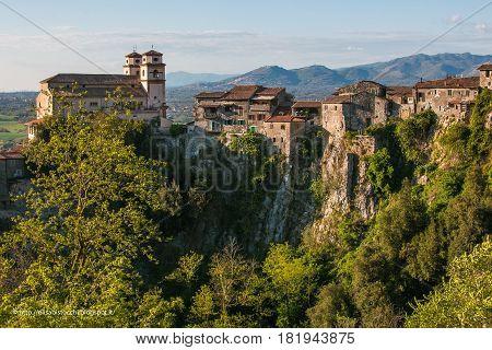 Beautiful view of Artena in the Lazio region, Italy
