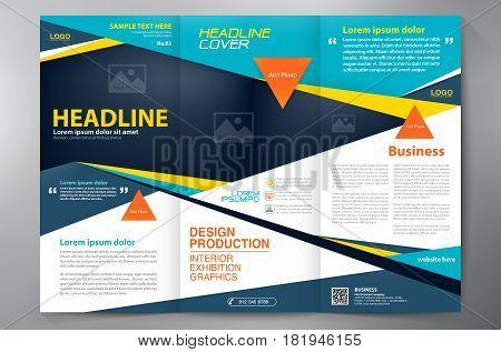 Brochure 3 Fold Flyer Design A4 Template.