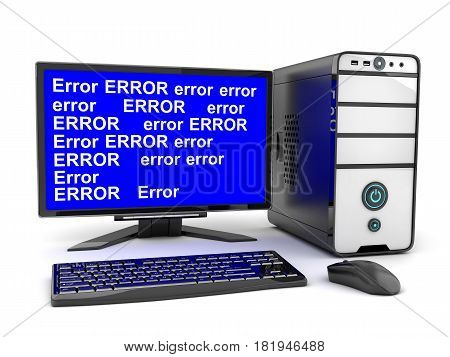 Broken Computer And Monitor Error