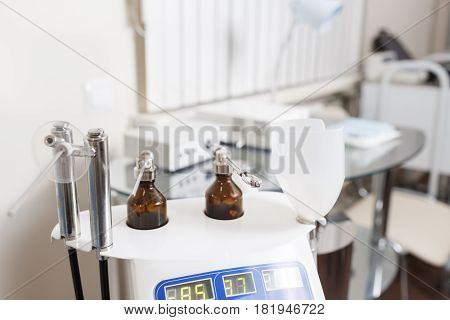 Medical equipment of otolaryngologist. in a modern clinic. diagnosis and treatment of diseases