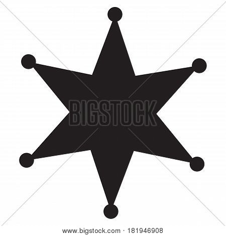 Sheriff star Icon in trendy flat style isolated on white background.