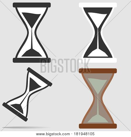 Hourglass icon. Flat design vector illustration vector.