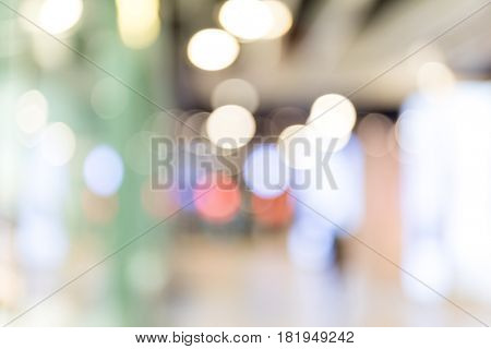Blur abstract background from building hallway