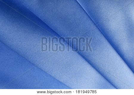 Blue Fabric Folds
