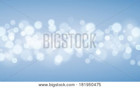 Defocused Blue lights backgrounds. Template from vector bokeh backgrouns.