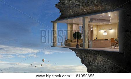 Realize your interior dream. Mixed media . Mixed media
