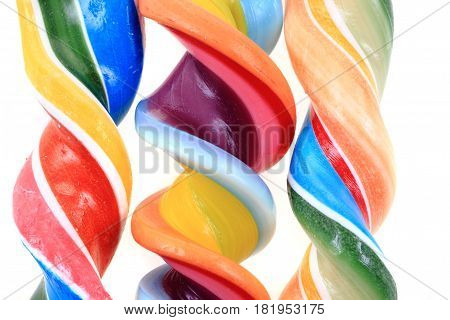 Rainbow Sugar Lolly Texture As Color Background