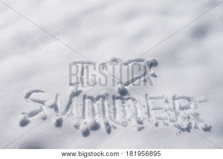 The Inscription On The Snow