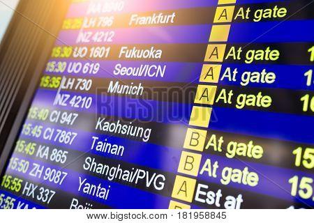 Departure board information board