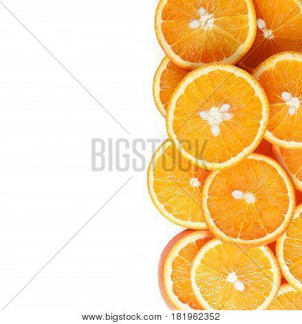 Orange Fruit Slices Isolated