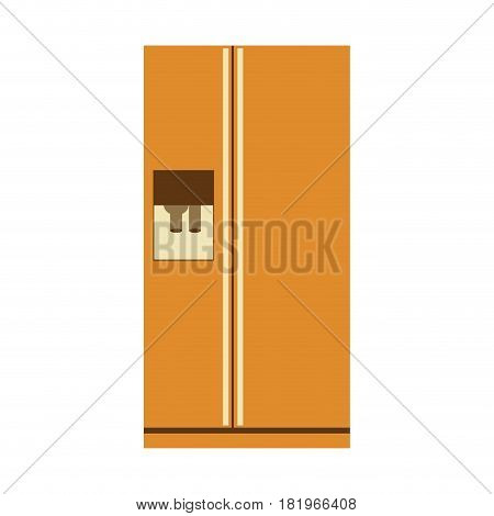 aged silhouette of fridge with water dispenser vector illustration