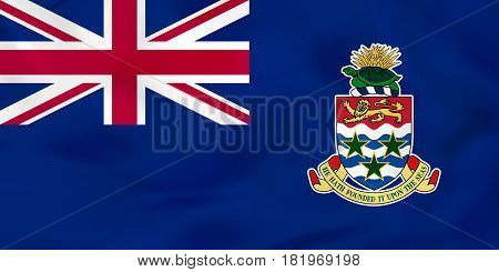 Cayman Islands Waving Flag. Cayman Islands National Flag Background Texture.